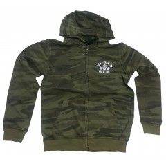 World Gym Army Camo Zip Hoodie camouflage 100 percent Cotton