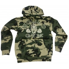World Gym Camo Hoodie Muscle Gorilla logo camouflage