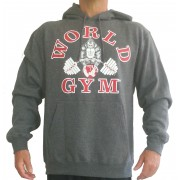 CLOSOUT, BLOWOUT -W850 World Gym Hoodie Muscle Gorilla logo