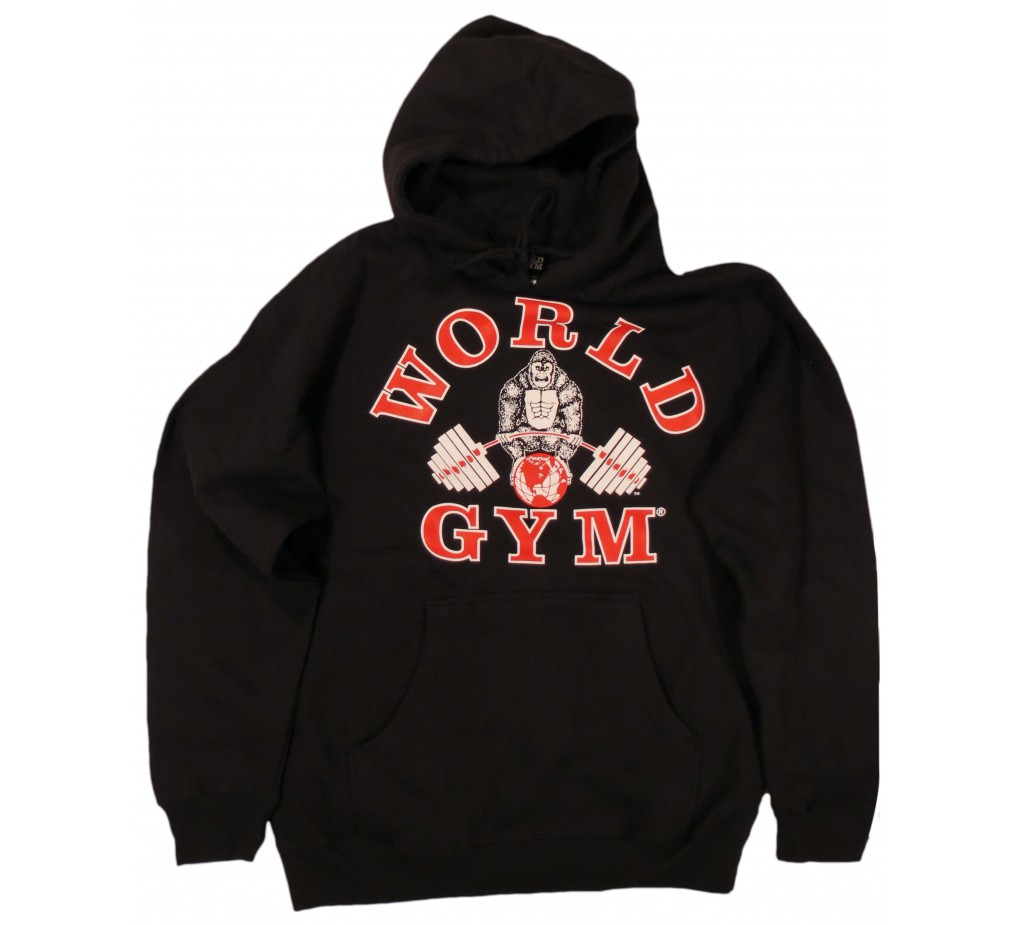 World Gym Hoodie Muscle Gorilla logo