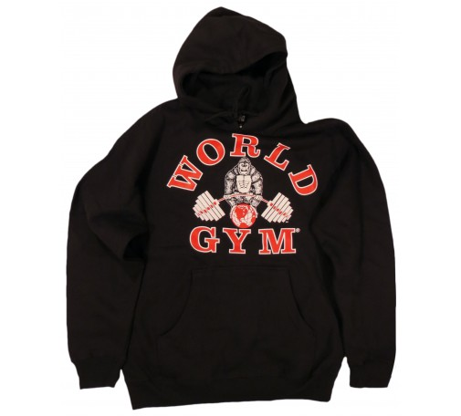 W850 World Gym Hoodie Muscle Gorilla logo