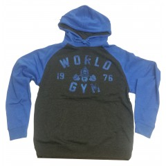 World Gym 76 Logo Workout Hoodie Black