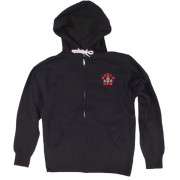 Zip Muscle Hoodie World gym logo