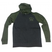 W860 Zip muscolare con cappuccio World Gym logo