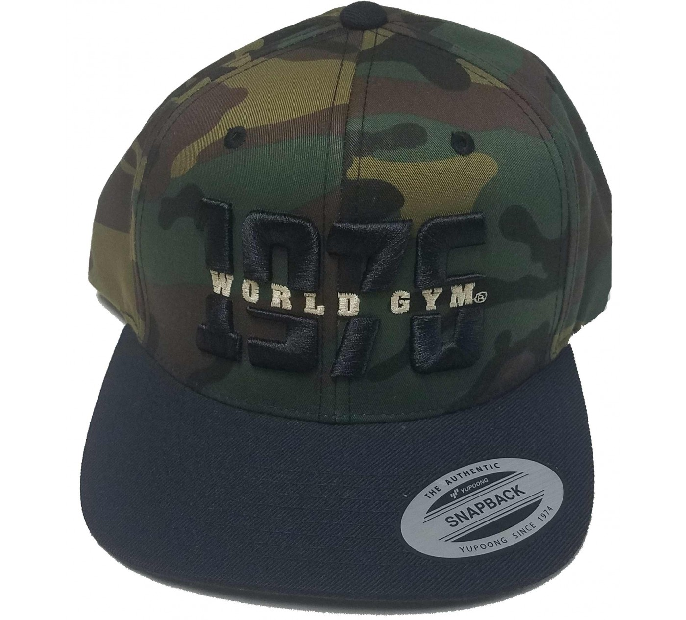 World Gym Logo Baseball hat CAMO