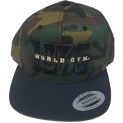 World Gym Logo Chapéu de basebol CAMO