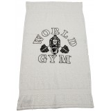 Official World Gym Workout Towel soft 100% Ringspun Cotton