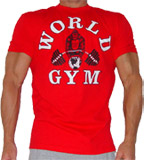 mens world gym shirt top
